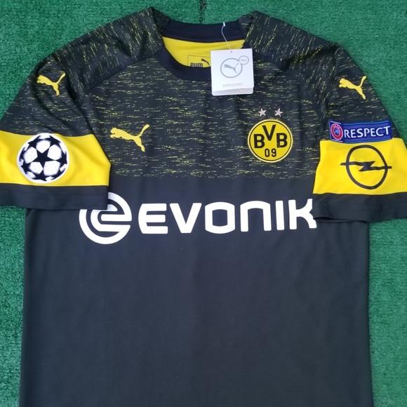 8b1a1f8b767 2018 19 Borussia Dortmund Away Soccer Jersey BVB
